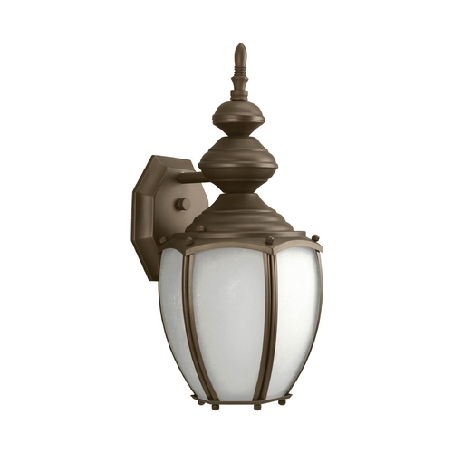 Progress Lighting Outdoor Wall Light with White Glass in Antique Bronze Finish P5770-20