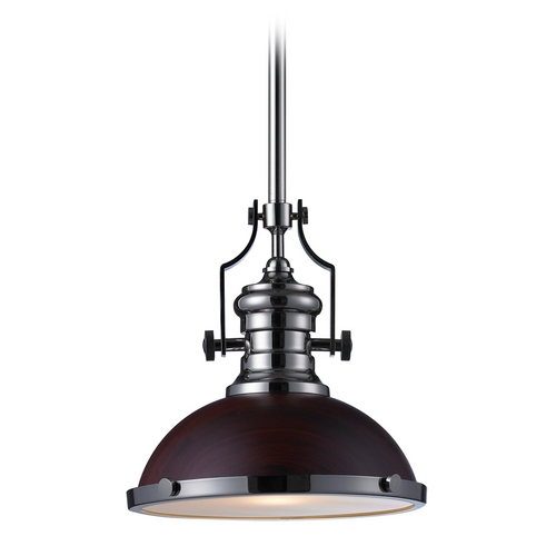 Elk Lighting LED Pendant Light in Polished Nickel Finish 66566-1-LED