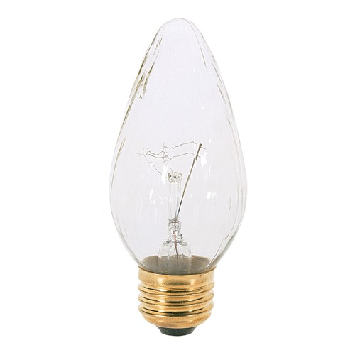 Satco Lighting Incandescent F15 Light Bulb Medium Base 120V Dimmable by Satco S2763