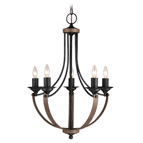 Sea Gull Lighting Sea Gull Lighting Corbeille Stardust / Cerused Oak Chandelier 3280405-846