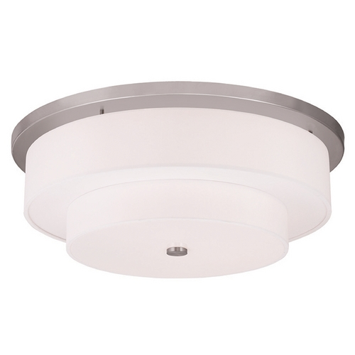 Livex Lighting Livex Lighting Meridian Brushed Nickel Flushmount Light 50867-91