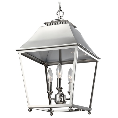 Feiss Lighting Feiss Lighting Galloway Polished Nickel Pendant Light F3089/3PN