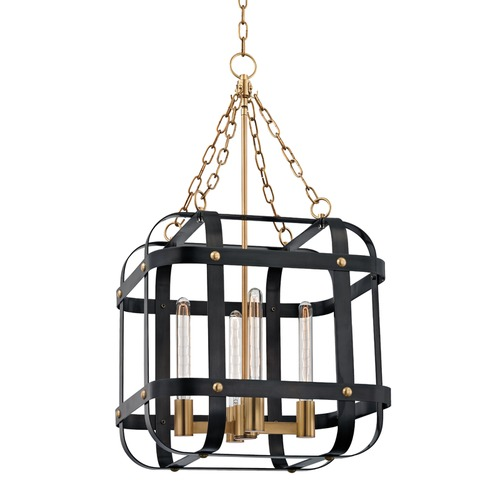 Hudson Valley Lighting Hudson Valley Lighting Colchester Aged Old Bronze Pendant Light with Square Shade 6920-AOB