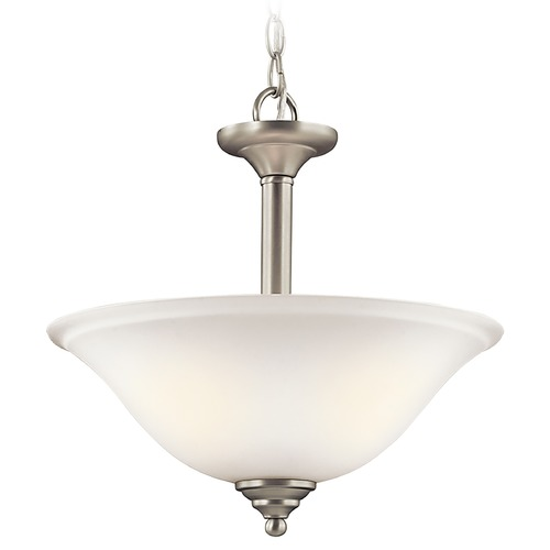 Kichler Lighting Kichler Lighting Armida Brushed Nickel LED Pendant Light with Bowl / Dome Shade 3694NIWL16