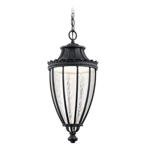 Kichler Lighting Kichler Lighting Wakefield Textured Black LED Outdoor Hanging Light 49759BKTLED