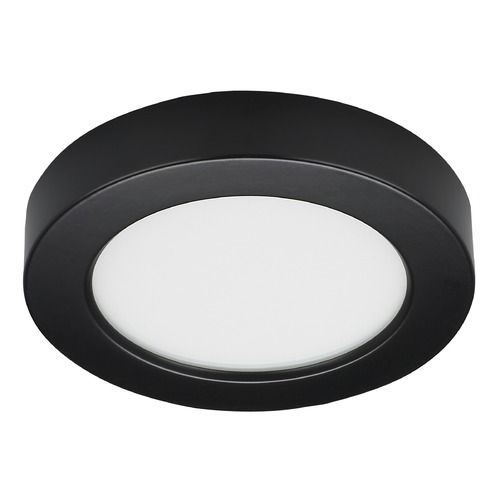 Satco Lighting Satco 5.5-Inch Round Black LED Surface Mount Light 10.5W 3000K 600LM S21526