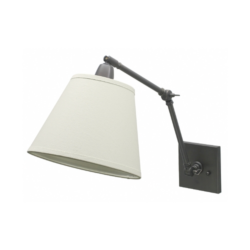 House of Troy Lighting Wall Lamp with White Shade in Oil Rubbed Bronze Finish DL20-OB
