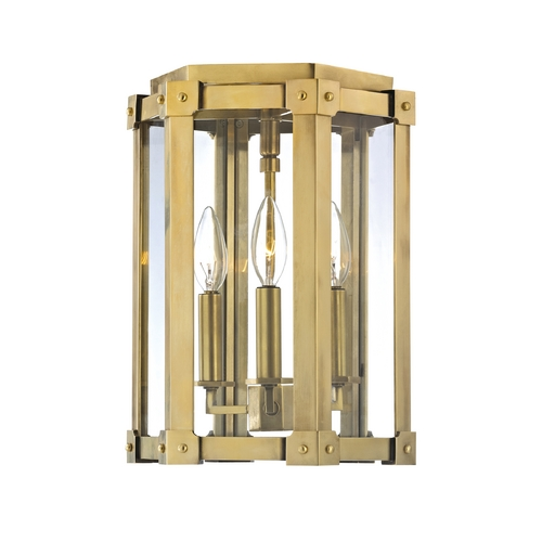 Hudson Valley Lighting Modern Semi-Flushmount Light with Clear Glass in Distressed Bronze Finish 6200-DB