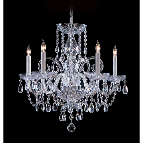 Crystorama Lighting Crystal Chandelier in Polished Chrome Finish 1005-CH-CL-MWP