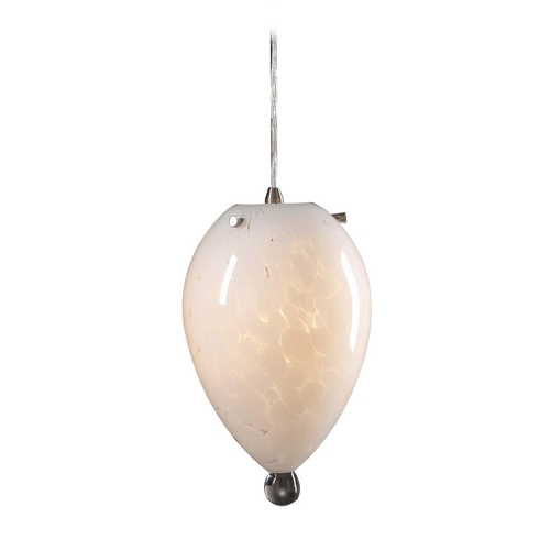 PLC Lighting Modern Mini-Pendant Light with White Glass 383 WHITE