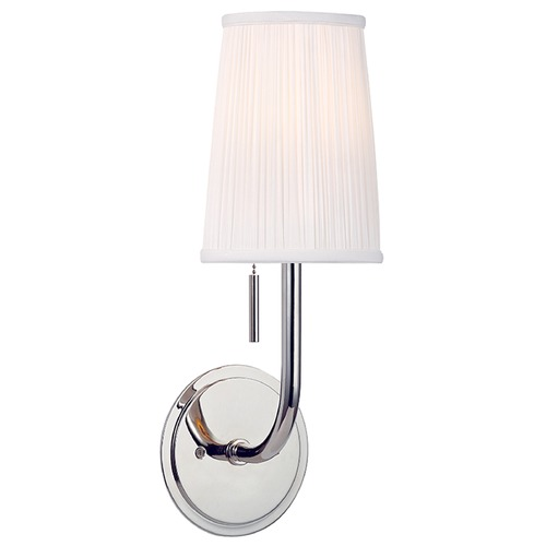 Hudson Valley Lighting Sanford 1 Light Sconce - Polished Nickel 311-PN