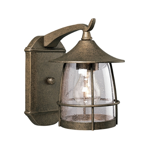 Progress Lighting Seeded Glass Outdoor Wall Light Bronze Progress Lighting P5763-86
