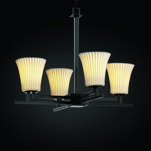 Justice Design Group Justice Design Group Limoges Collection Chandelier POR-8700-20-PLET-MBLK