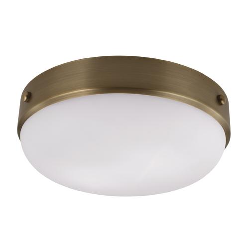 Feiss Lighting Cadence Dark Antique Brass Flushmount Light
