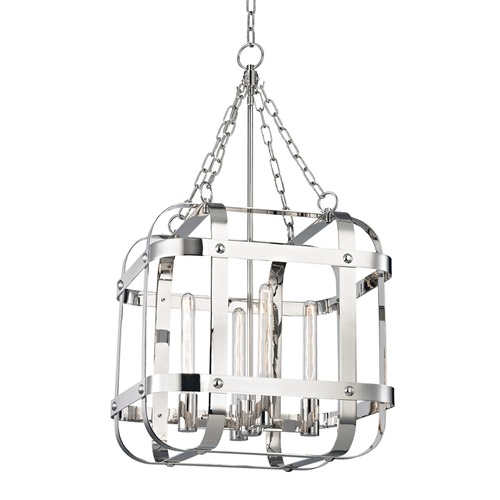 Hudson Valley Lighting Hudson Valley Lighting Colchester Polished Nickel Pendant Light with Square Shade 6920-PN
