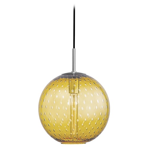 Hudson Valley Lighting Hudson Valley Lighting Rousseau Polished Chrome Pendant Light with Globe Shade 2010-PC-LA