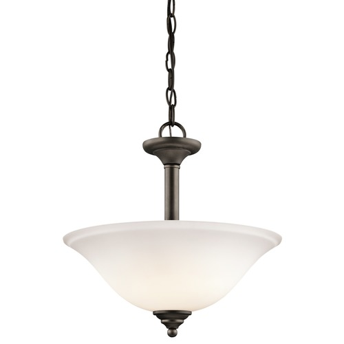 Kichler Lighting Kichler Lighting Armida Olde Bronze LED Pendant Light with Bowl / Dome Shade 3694OZWL16