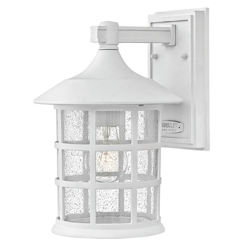 Hinkley Lighting Seeded Glass Outdoor Wall Light Classic White Hinkley Lighting 1804CW
