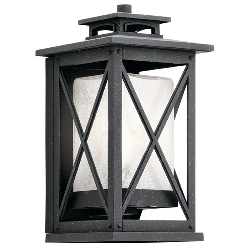 Kichler Lighting Kichler Lighting Piedmont Distressed Black Outdoor Wall Light 49770DBK