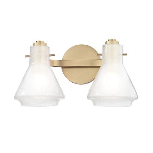 Hudson Valley Lighting Mid-Century Modern Bathroom Light Brass Mitzi Rosie by Hudson Valley H129302-AGB