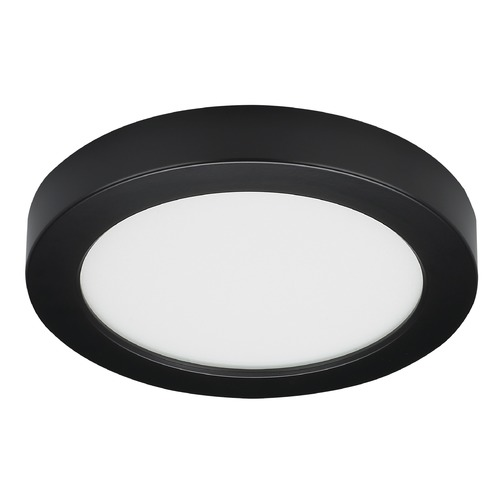 Satco Lighting Satco 7-Inch Round Black LED Surface Mount Light 13.5W 3000K 820LM S21528