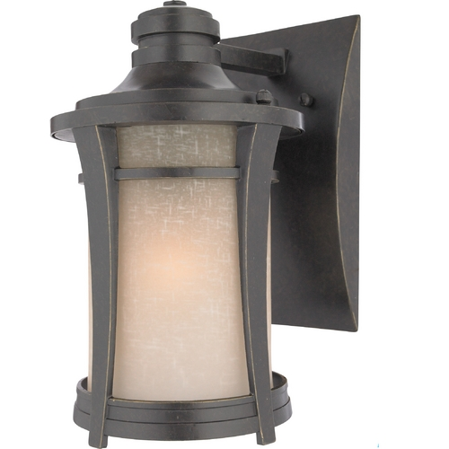 Quoizel Lighting Outdoor Wall Light with Amber Glass in Imperial Bronze Finish HY8407IBFL