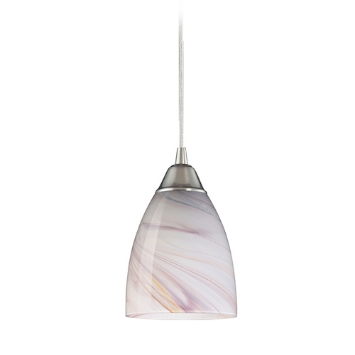 Elk Lighting Modern Mini-Pendant Light with Art Glass 527-1CR