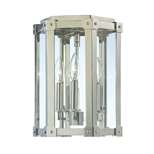 Hudson Valley Lighting Modern Semi-Flushmount Light with Clear Glass in Polished Nickel Finish 6200-PN