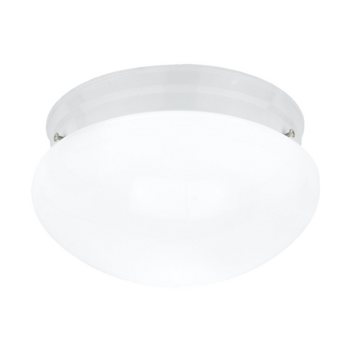 Sea Gull Lighting Flushmount Light with White Glass in White Finish 5328-15