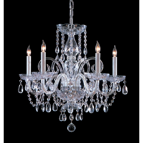 Crystorama Lighting Crystal Chandelier in Polished Chrome Finish 1005-CH-CL-S