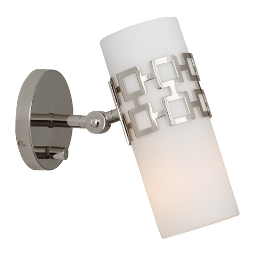 Robert Abbey Lighting Mid-Century Modern Sconce Polished Nickel Jonathan Adler Parker by Robert Abbey S639