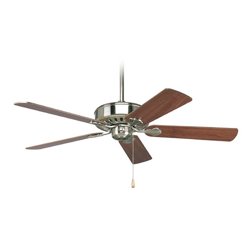 Progress Lighting Progress Ceiling Fan Without Light in Brushed Nickel Finish P2503-09