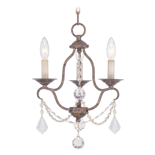 Livex Lighting Livex Lighting Chesterfield Venetian Golden Bronze Crystal Chandelier 6423-71