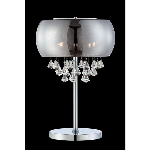 Lite Source Lighting Lite Source Othello Chrome Table Lamp with Oblong Shade EL-30064