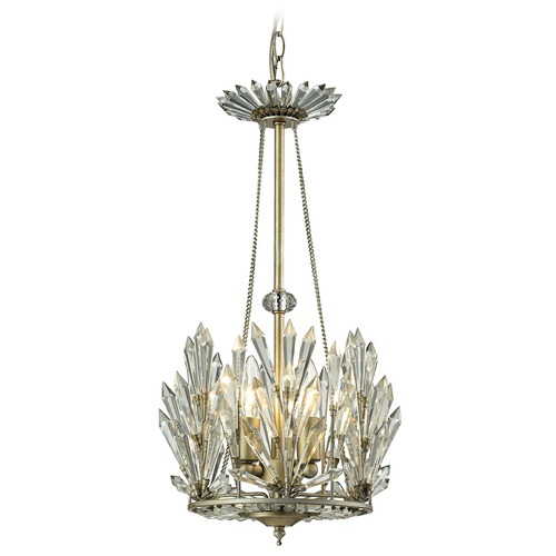 Elk Lighting Elk Lighting Viva Natura Aged Silver Pendant Light 31773/3