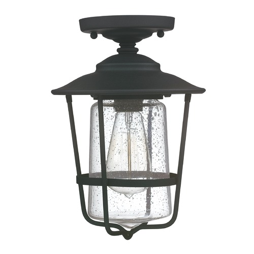 Capital Lighting Capital Lighting Creekside Black Close To Ceiling Light 9607BK