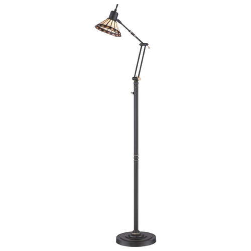 Quoizel Lighting Quoizel Tiffany Medici Bronze LED Swing Arm Lamp with Coolie Shade TF9152ZLED