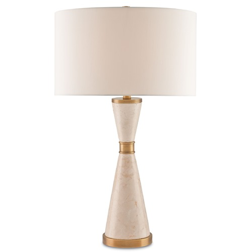 Currey and Company Lighting Currey and Company Lycee Caramel/coffee Bronze Table Lamp with Drum Shade 6886