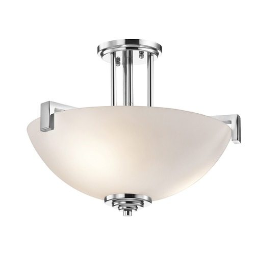 Kichler Lighting Kichler Lighting Eileen Chrome LED Pendant Light with Bowl / Dome Shade 3797CHL16
