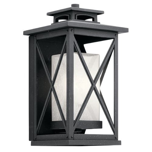 Kichler Lighting Kichler Lighting Piedmont Distressed Black Outdoor Wall Light 49771DBK