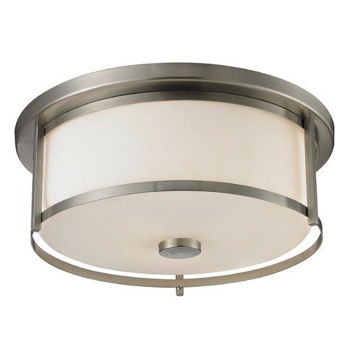 Z-Lite Z-Lite Savannah Brushed Nickel Flushmount Light 412F16