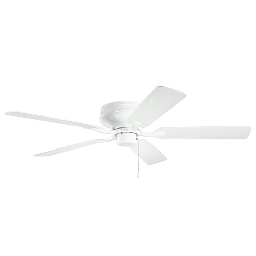 Kichler Lighting Basics Pro Legacy Patio White 52-Inch Ceiling Fan without Light 330021WH