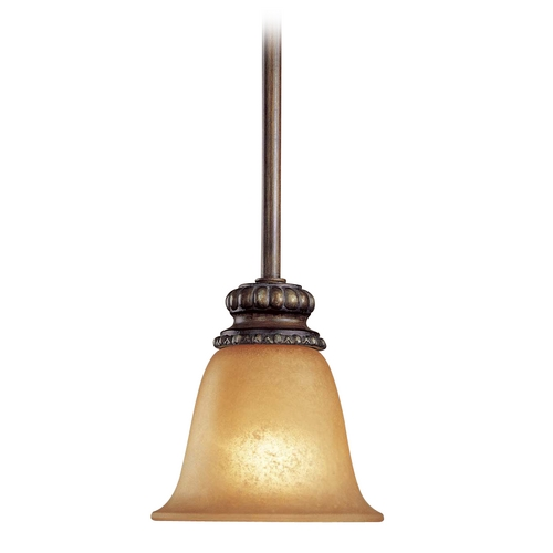 Minka Lavery Mini-Pendant Light with Beige / Cream Glass 950-126