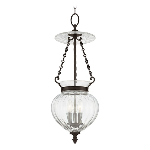 Hudson Valley Lighting Pendant Light with Clear Glass in Old Bronze Finish 783-OB