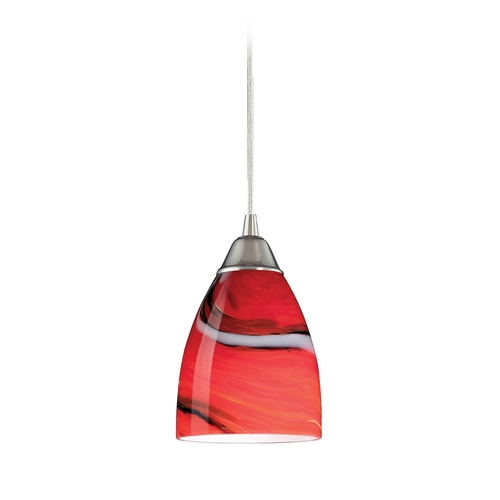 Elk Lighting Modern Mini-Pendant Light with Art Glass 527-1CY