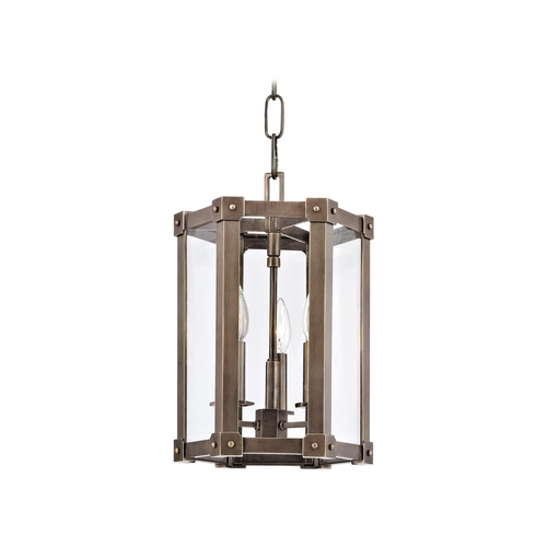 Hudson Valley Lighting Modern Pendant Light with Clear Glass in Aged Brass Finish 6210-AGB