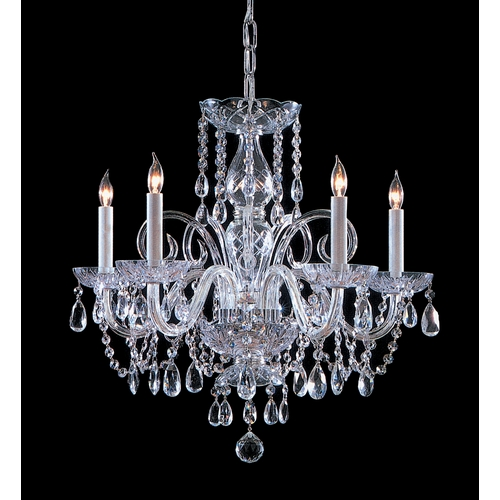 Crystorama Lighting Crystal Chandelier in Polished Chrome Finish 1005-CH-CL-SAQ