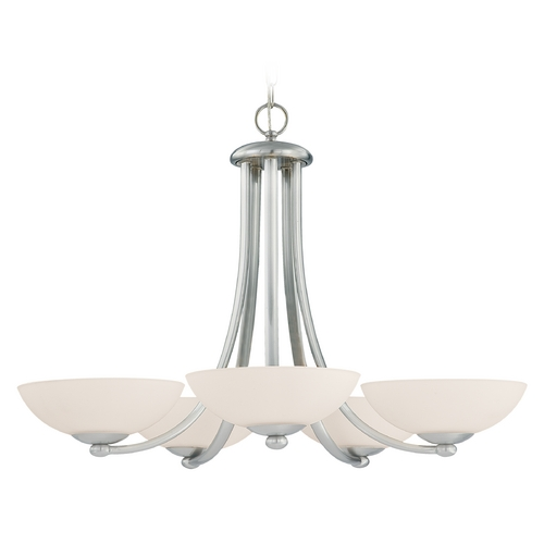 Dolan Designs Lighting Satin Nickel Five-Light Chandelier 2900-09