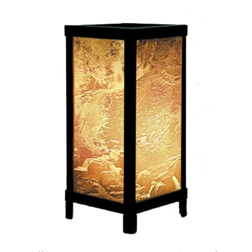 Porcelain Garden Lighting Waterfall Porcelain Lithophane Accent Table Lamp LT-03
