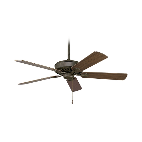 Progress Lighting Progress Ceiling Fan Without Light in Weathered Bronze Finish P2503-46